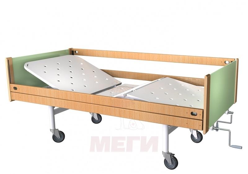 Кровать медицинская функциональная трехсекционная КФ3-01-МСК-6103