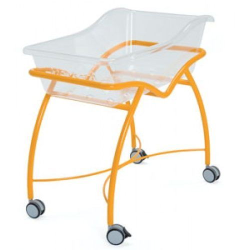 Vernipoll 19-FP650 (вариант 1) кровать для новорожденных на окрашенной тележке