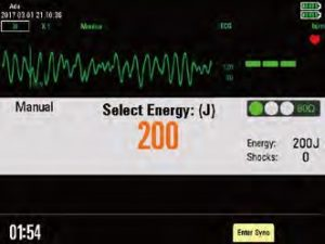 Дефибриллятор-монитор Beneheart D6 ручной режим