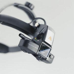 Офтальмоскоп зеркальный OMEGA 500 с LED освещением, карманный аккумулятор HEINE
