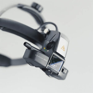 Офтальмоскоп зеркальный OMEGA 500 с XHL освещением, карманный аккумулятор HEINE