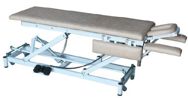 Массажный стол с подголовником и подлокотниками на Н-раме СММ-02-Аском (Н.202)